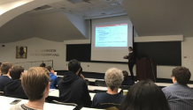SPS member Laura Salo presents her research in experimental particle physics