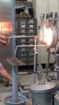 Shaping the glass...