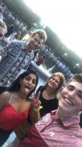Ran into some NASA people at Jazz in the Gardden