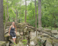 Here is a picture of me in the ruins at Rock Creek Park.